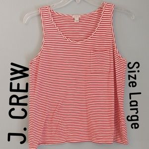 J. CREW Red Striped Tank
